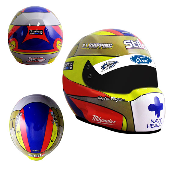 2014 CHAZ MOSTERT LIMITED EDITION MINI HELMET 1:2