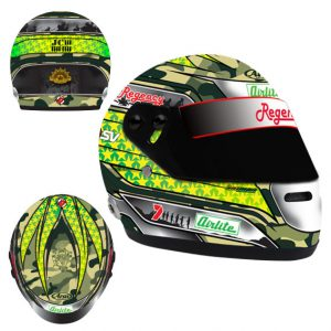 2014 JAMES COURTNEY ANZAC LIMITED EDITION MINI HELMET 1:2