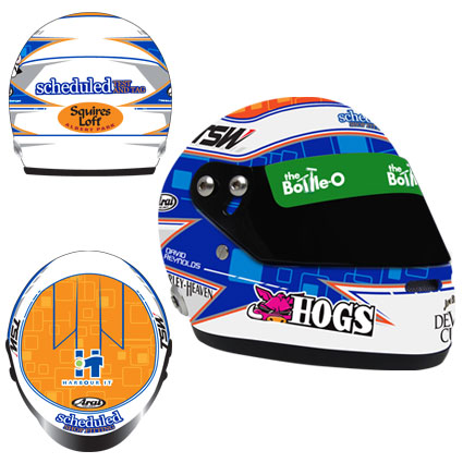 2014 DAVID REYNOLDS LIMITED EDITION MINI HELMET 1:2
