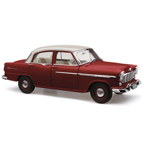 HOLDEN FE SPECIAL CASCADE WHITE OVER ETNA MAROON 60TH ANN 1:18
