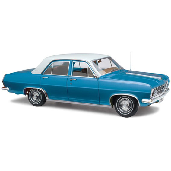 HOLDEN HR PREMIER SEDAN PYRENEES BLUE METALLIC 1:18
