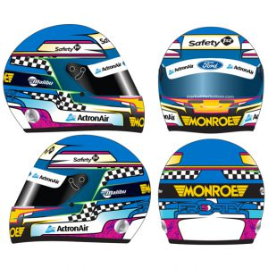 2015 PRA MARK WINTERBOTTOM LIMITED EDITION MINI HELMET 1:2