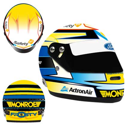2014 MARK WINTERBOTTOM LIMITED EDITION MINI HELMET 1:2