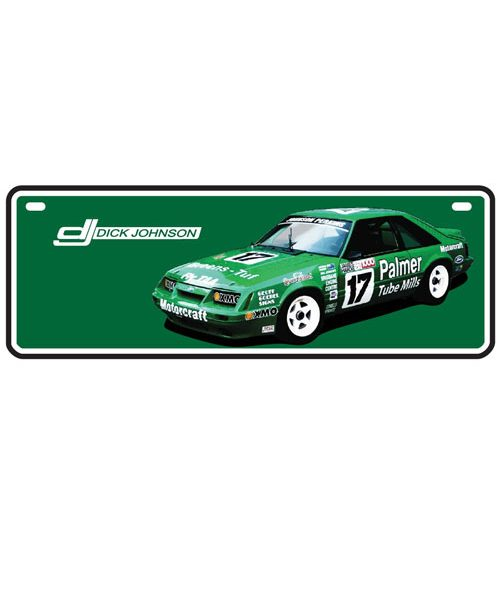 DJG18A-040_DICK_JOHNSON_GREENS_TUF_MUSTANG_CAR_NUMBER_PLATE