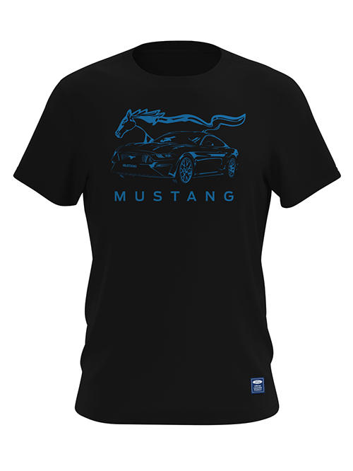 FM19M-412_FORD MUSTANG LOGO TEE_BLACK_FRONT
