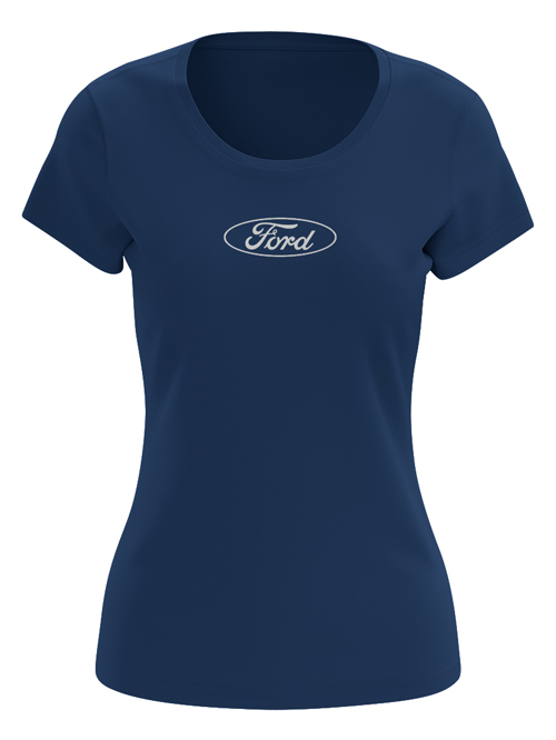 FG19L-021_Ford-Ladies-Cotton-Tee_BLUE_FRONT